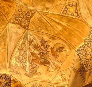 Peintures du plafond, détail, oiseaux