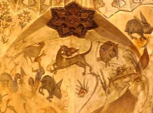 Peintures du plafond, détail, animaux