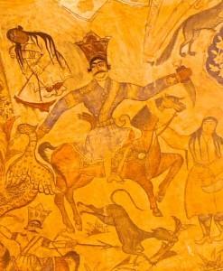 Peintures du plafond, détail, chevalier