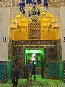 Entrée du local du tombeau de Shah Nematollah-e Vali