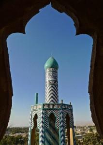 Sommet d'un minaret de la mosquée