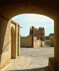 Forteresse Narenj vue depuis la vieille ville