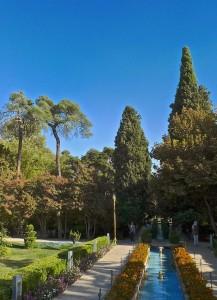 Shiraz, Bagh-e Eram, allée du jardin