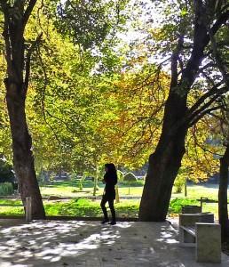 Shiraz, Bagh-e Eram, visiteuse