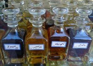 Shiraz, Bazar-e Vakil, chez le parfumeur