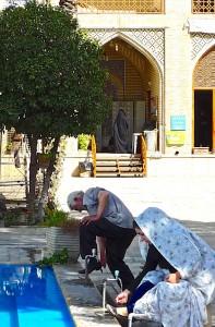 Cour de la mosquée, ablutions rituelles