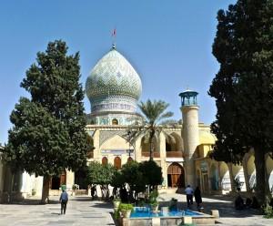 Vue de l'entrée de la mosquée