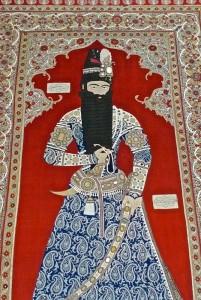 Le roi Fath Ali Shah, peinture