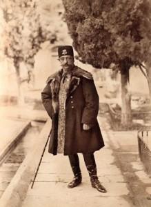 Le roi Nasser Ed Din Shah, photo ancienne