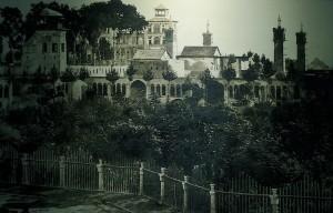 Vue sur la tour Agha Mohammad, Emarat-e Badgir et Shams-e Emareh, photo ancienne