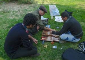 Tehran, Musée d'art contemporain, joueurs de takhteh