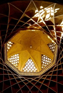 Bâtiment octogonal, intérieur, plafond