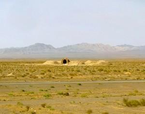 Désert de Yazd, bouche de qanat