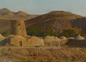 Yazd-Esfahan, désert Dacht-e Kavir, village