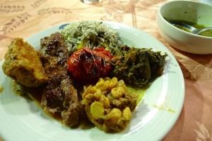 Yazd, assiette iranienne