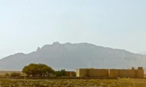 Vue d'ensemble avec montagnes à l'arrière-fond