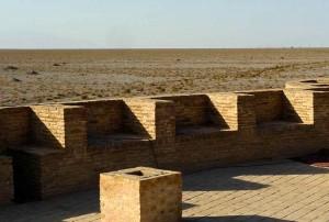 Vue du toit au Nord sur la steppe