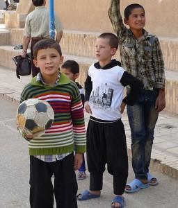 Yazd, vieille ville, futurs champions