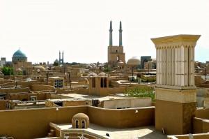 Vue de la vieille ville de Yazd