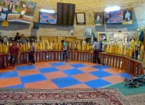 Yazd, terrain du zurkhaneh