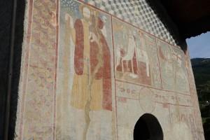 Le mur Ouest avec ses fresques