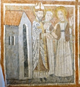 La Sainte prend congé de l'évêque Maximin et de sa soeur Marthe
