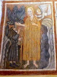 Près de la mort, Sainte Marie-Madeleine demande à un moine d'appeler Saint Maximin
