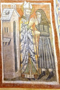 Averti par le moine, l'évêque s'apprête à lui apporter les Sacrements