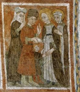 A leur arrivée, ils sont accueillis par Sainte Marie-Madeleine