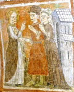 Elle les persuade de se rendre à Rome puis en Terre Sainte