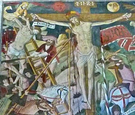 P1340746 XXI) gesù crocifisso tra i due ladroni disma il buono 3