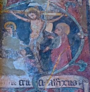 Médaillon représentant la crucifixion