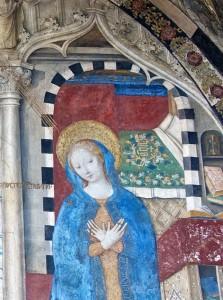 Annonciation, détail : la Vierge Marie