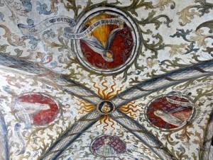 Premier compartiment : la Vierge et les sibylles Tiburtine, Cumane, Erithrée et Perse