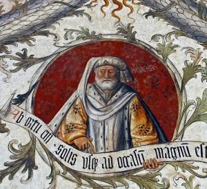 Troisième compartiment, détail : le prophète Malachie
