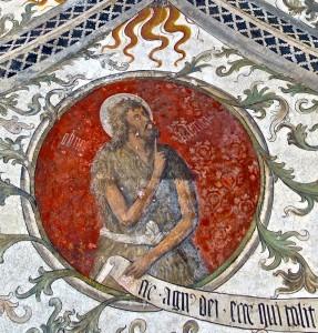 Deuxième compartiment, détail : le prophète Jean le Baptiste
