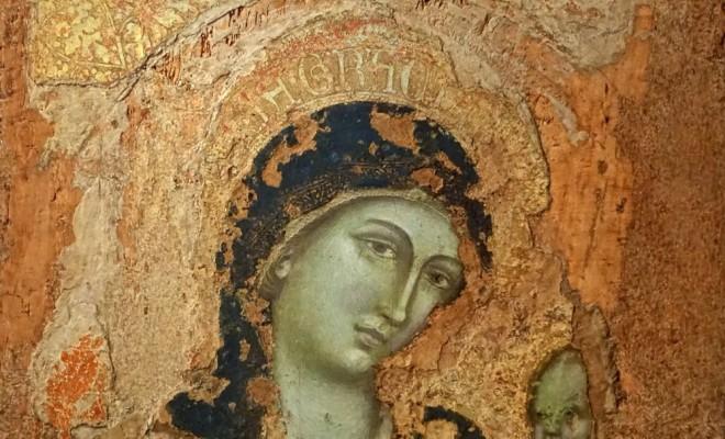 Madonna col bambino, di Barnaba da Modena, 1375