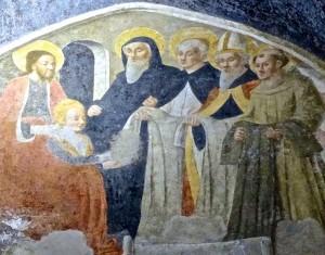 Sainte Cathérine de Sienne choisit l'habit dominicain, Nicolo' di Lombarduccio dit Niccolo' Corso, 1474