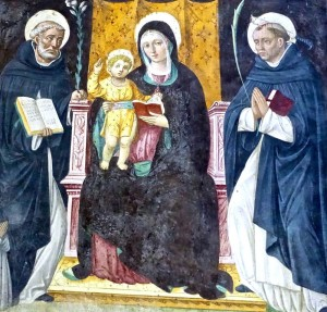 Marie et l'Enfant entourés de Saints, Pietro Francesco Sacchi de Pavie, 1526