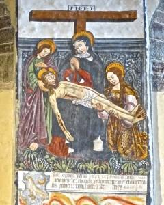 La déposition du Christ de la croix, peinture de Secondo del Bosco, 1505-10