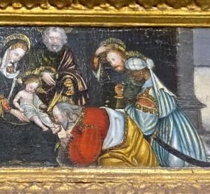Prédelle du triptyque, détail : l'Adoration des Rois mages