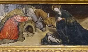 Prédelle du triptyque, détail : la Nativité de Jésus