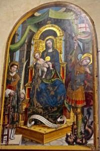 Fresque de Secondo del Bosco avec  Marie en majesté