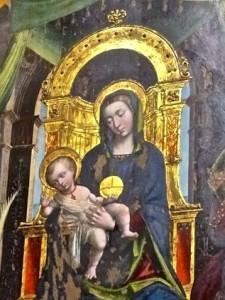 Fresque, détail : Marie et l'Enfant Jésus