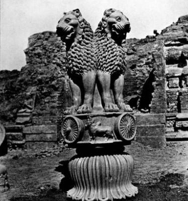 Capitello dai quattro leoni di Ashoka a Sarnath (250 avC)